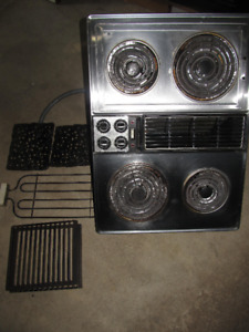 Jenn Air Downdraft Cooktop with BBQ Grill Attachment