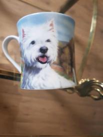 West highland terrier fine china mug