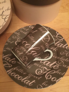 Mugs and Side Plate Sets for Chocolate Lovers