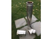 Woodburner Stainless Steel twin wall flue pipe 150mm