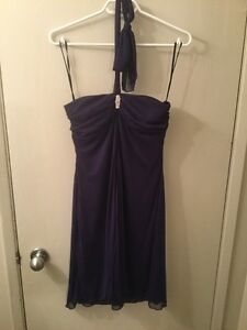 Sears size 10 tie up at neck purple dress