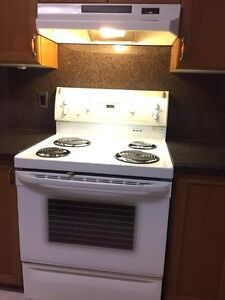 Great GE Electric stove & hood