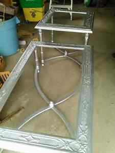 2 Beveled Grass Patio Tables