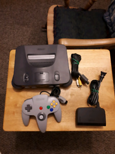 Nintendo 64 System With Controller And Hook Ups!
