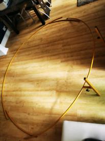 New golden metal ring hoop
