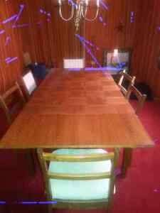 Dining Table and Hutch TEAK