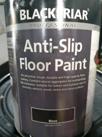 5lt tins off Black anti-slip floor paint £30