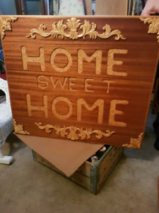 Home sweet home wooden picture