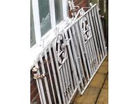 Wrought iron gates.