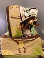 Jungle Crib Bedding Set 8pc