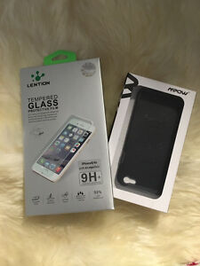 iPhone 6S/6 screen protector and case