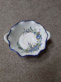 Blue dish made in Greece 7.5 inches