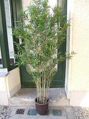Orientalische Blättern (Künstlicher Oriental Bambus, 3522 Blätter, mit Naturbambus 1,85m Topqualität)