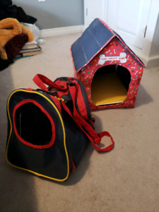 BUILD-A-BEAR DOG HOUSE AND PET CARRIER