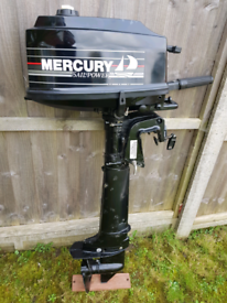 Mercury 4hp outboard boat engine 2stroke sail power