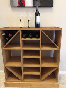 Custom-made wine rack - one of a kind!