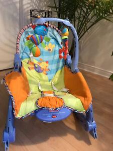 Chaise de bébé vibrante.