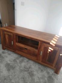 Solid oak tv multimedia unit