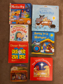 Christmas nativity board books