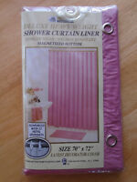 Shower curtains liner magnetized bottom – PINK 15 $*  Deluxe hea