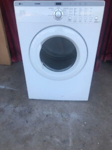 lg white front load electric dryer for sale