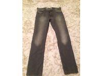 Men's fashionable faded slim leg grey jean from burton
