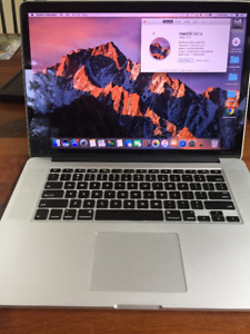 "MacBook Pro 15"" screen with Retina"