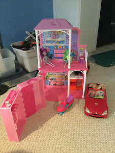 Barbie Dream House and toys