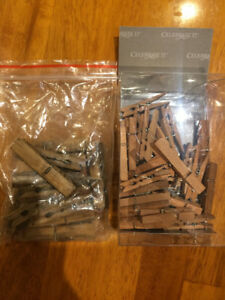 Rustic clothespins - 2 sets