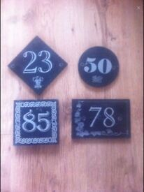 WELSH SLATE HOUSE NUMBERS