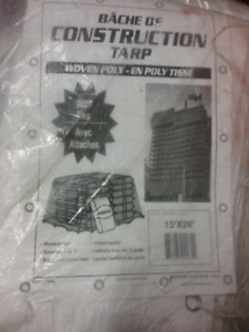 tarps, heavy duty construction 15' x 20'