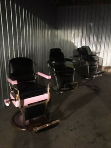 Antique Barber Chairs (Koken, Belmont, Theo Kochs)