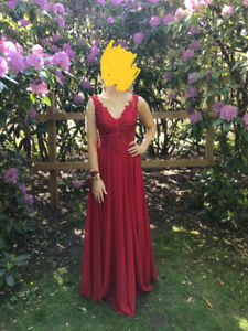 Size 4 red prom dress