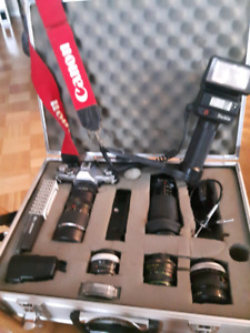 Canon camera with complete case