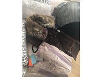 Karen Millen suede fur trimmed gillet and Karen Millen jumper size 12-14