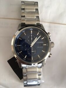 Brand New Citizen Eco Drive Date & Chronograph Blue Dial.