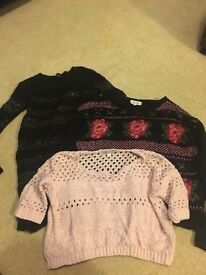 3x size 10 womans jumpers