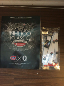 NHL 100 classic game guide Ottawa vs Montreal  lanyard, patch