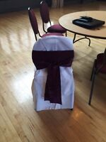CHAIR COVERS, SASHES & TABLE RUNNERS