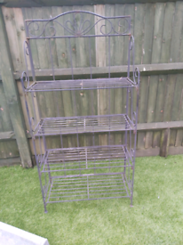 Vintage 4 tiered freestanding plant stand