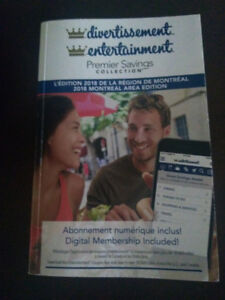 Montreal entertainment coupon book.  Valid until Dec 30th 2018