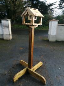 Wooden wild bird 🐦 table with nut feeder
