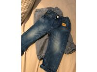 2 pairs next boys jeans 9-12 months