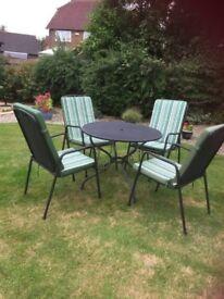 Garden Furniture - Table, Chairs & Cushions