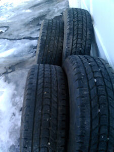 Set of Four 275/70 R18 Firestone WinterForce Tires