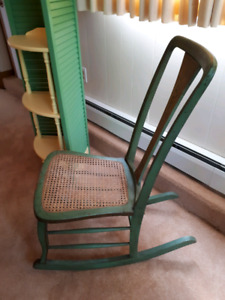Vintage Cane Seated Rocking Chair