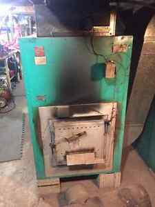Wood and oil furnace pair