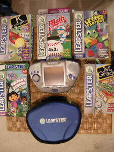 Leap Frog Leapster Handheld with 5 games - $20