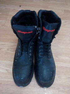 Snap on Steel toed boots, 2 pair