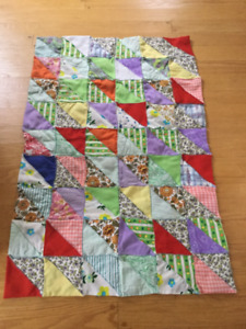 """Baby Quilt 44"""" length X 29"""" width."""